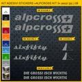 ALPCROSS2, MTB ロードバイク,サイクル ステッカー,ステッカーキット,