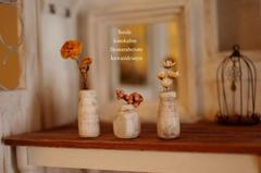 小さな、木の花瓶3個セット♪