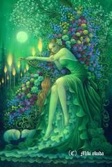 ポストカード「ケルトの女神:ブリジット」