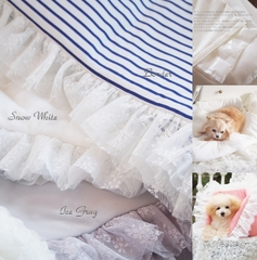 Ice Le Lit(アイスレリット)♪☆Coral/Ice Gray/Border/Snow White☆