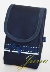 新型 紺 リボン&ステッチ