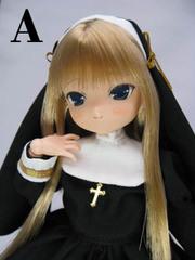 エリア ミッション系ロリータ制服(黒服、金髪)