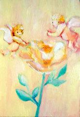 薔薇天使*油絵原画