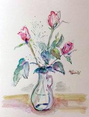 薔薇の水彩画*原画