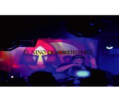 oilf003 EL NINO / OILWORKS TECHNICS 20091029 @club  BASE LIVE -SEEN FROM PA BOOTH-