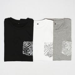 Leaf Pocket T-SHIRTS (monochrome)