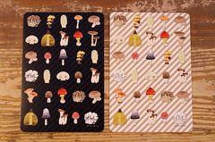 Shima.shima きのこポストカード(白と黒)