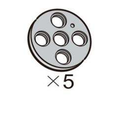 Pulley-Circle-L (SPO-4PR(GR)) 5pcs[913-1013-020]