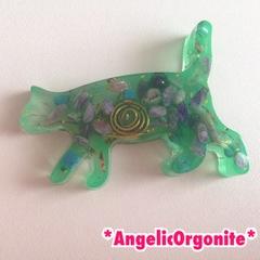 オルゴニャイトミニ置物グリーン1