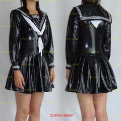 PVCセーラー服【M】クロッチファスナー付き女性用サイズ