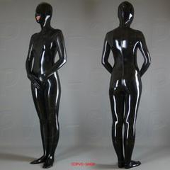 フルタイツ【マスク一体型】バックから前への3ファスナー【L】