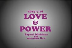 1stワンマン記念ポストカード(LOVE&POWER A)