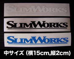 SLIMWORKS 型抜きステッカー(ロゴ文字 中)