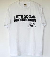 【新入荷】レッツゴースノーボードTシャツ