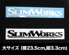 SLIMWORKS 型抜きステッカー(ロゴ文字 大)