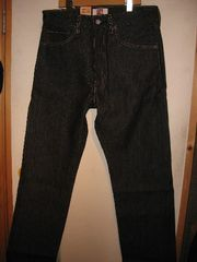 Levi`s 501 black denim rigid