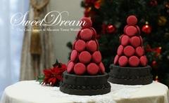 クリスマス♪マカロンタワー  レッド&チョコ完成品
