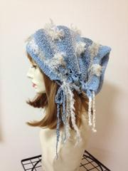 1124 青空帽子ターバン