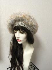 1468 ファーベレー帽★ベージュ