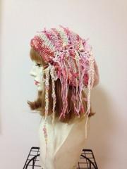 1134 帽子ターバン短め:ピンク