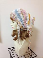 1129 帽子ターバン:パステル