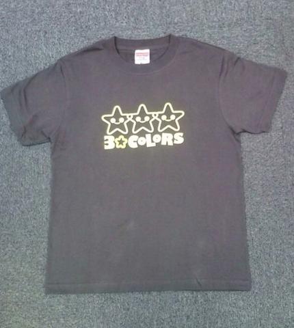 3☆COLORS Tシャツ(チャコール/L)