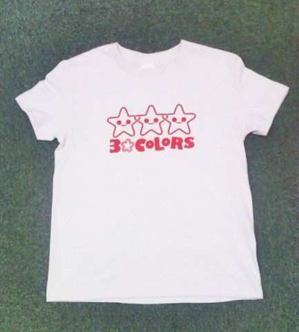 3☆COLORS Tシャツ(ライトピンク/L)