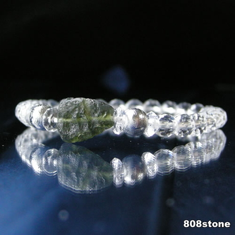 モルダバイト原石&ギベオン隕石 コンビブレスレット