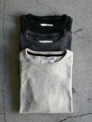 Vlas Blomme レギュラー天竺 長袖Tシャツ 15フラックス
