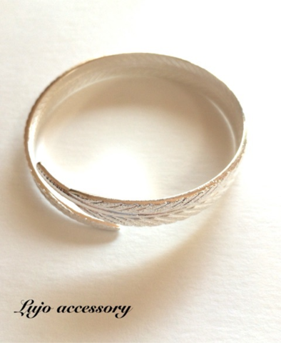 Silver999☆2LINE Feather bangle