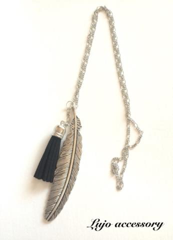 Feather tassel silver NC