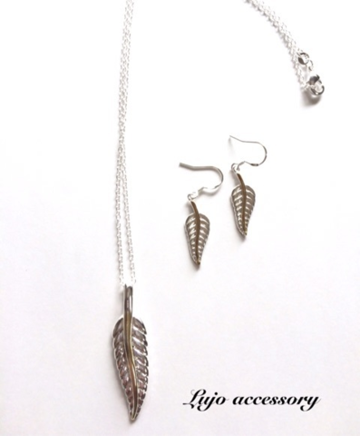 2点set☆shilver925製 feather NC/pierce