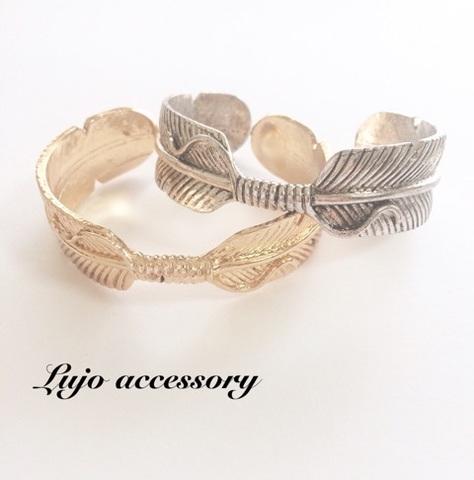 Feather Cuff Bracelet (18K/silver)