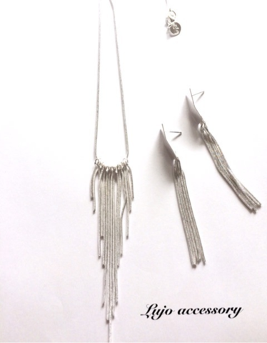 2点set☆shilver925製  long fringe NC/pierce