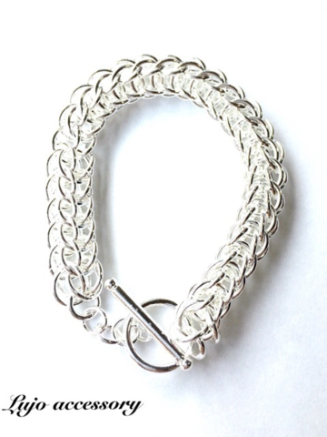 Silver 925製Thick weave Br.