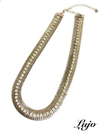 Silver☆Light bijou necklace