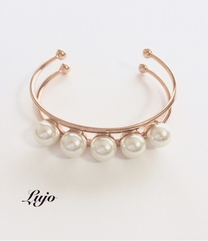 Pearl ranged golod bangle