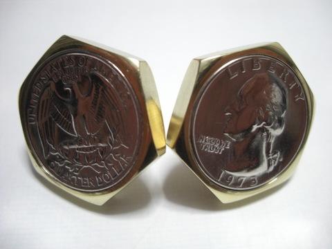 真鍮「ブラス」製25¢六角コインボルト