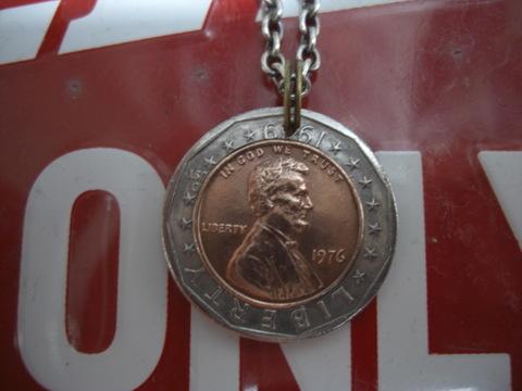 ダブルコイン1ドルペンダントトップ