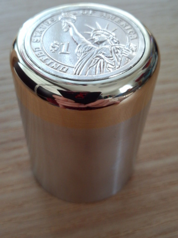 1$ブラス&ジュラルミン製コインノブ®(シフトノブ)Ⅶ