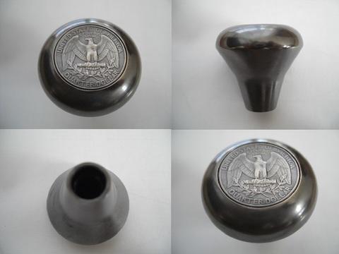 真鍮「ブラス」製25$コインノブ®(シフトノブ)A-TYPE