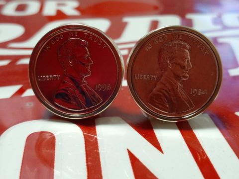 真鍮「ブラス」製1¢コインボルト®直径21mm