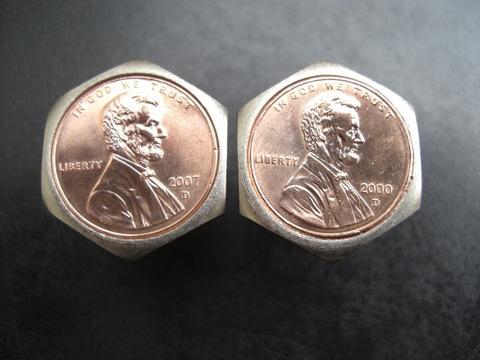 鉄「STEEL」製ナンバープレート用コインボルト®鍍金