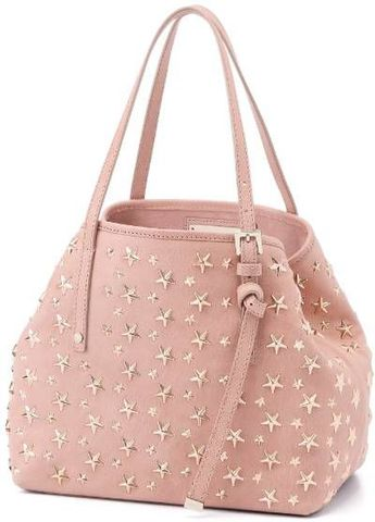 JIMMY CHOO SMALL TOTE BAG CALF LEATHER WITH STARS