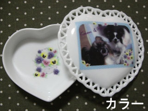 28 ハート型透かし小物入(カラー写真入)