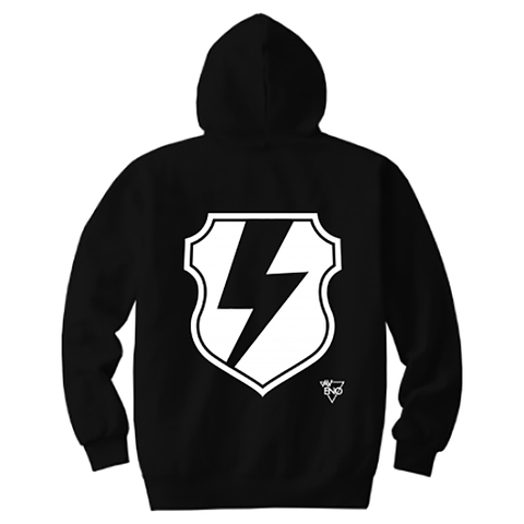 avenomix / THUNDER EMBLEM HOODED SWEATSHIRT BLACK