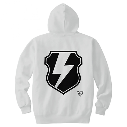 avenomix / THUNDER EMBLEM HOODED SWEATSHIRT WHITE