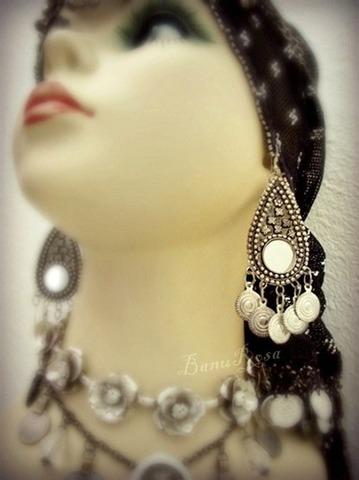 Mirror & Metal Earrings