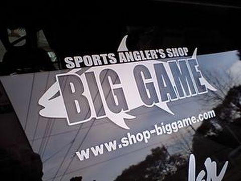 BIGGAMEオリジナルステッカー / Mサイズ