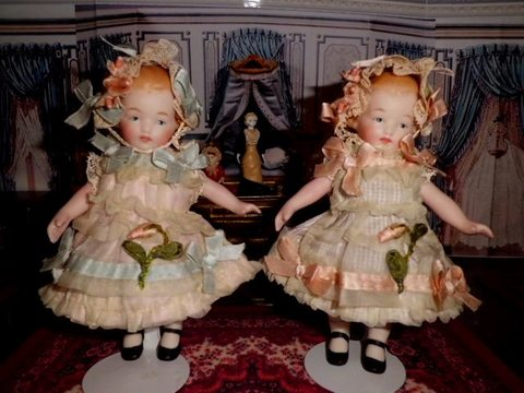 小さなドレス&ボネ~*ピンクリボン